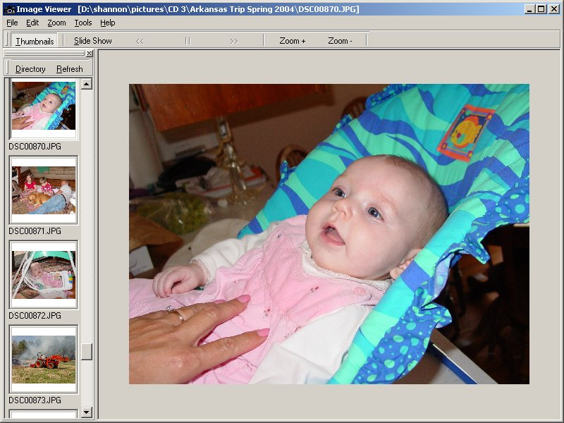 View and resize digital images quickly and easily or view a slide show